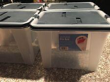 4 Pack Portable File Boxes 10 14w X14 58l X 11 116h