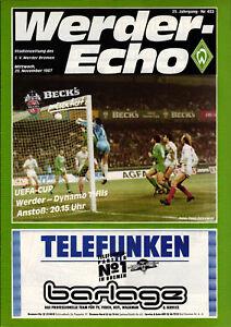 EC-III-87-88-SV-Werder-Bremen-Dynamo-Tiflis-Tbilissi-25-11-1987
