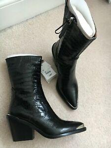 zara mock croc boots