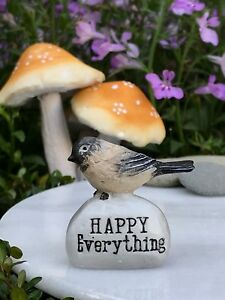 Miniature Fairy Garden Terrarium Accessories Mini Happy Everything