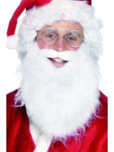 amp; Noël Déguisement Santa Santa Accessoire Barbe Père Perruque De Luxe BqRx0