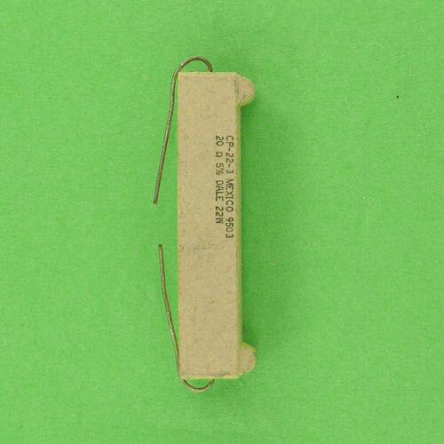 20 Ohm 22W 5/% Wirewound Power Resistor Ceramic Sandstone Cement Axial Lead NEW