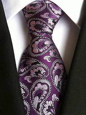 (nt126) Silk Purple Pink Paisley Necktie Wedding Office Party Formal Tie For Men Ein Bereicherung Und Ein NäHrstoff FüR Die Leber Und Die Niere