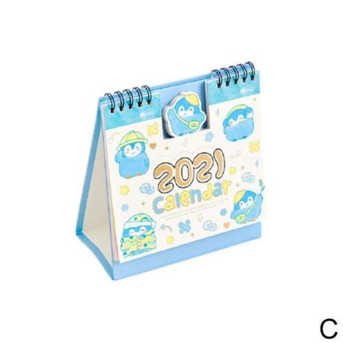 136*150mm Cartoon Desk Calendar 2021 Easy To View Planner Office School Gift
