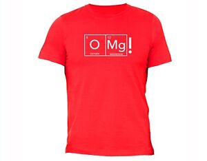 41b1b62cc02 OMG O2 Periodic Table T-Shirt Funny Humor Science Nerd Geek College ...