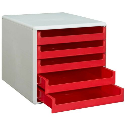 Schubladenbox 5 Schübe Ablagebox Briefablage Ablage BLITZVERSND aquamarin türkis