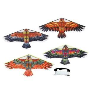 Portable-Nylon-Triangle-Eagle-Rasen-Lenkdrachen-Sport-Kinder-Spielzeug-E8D1-P8W1