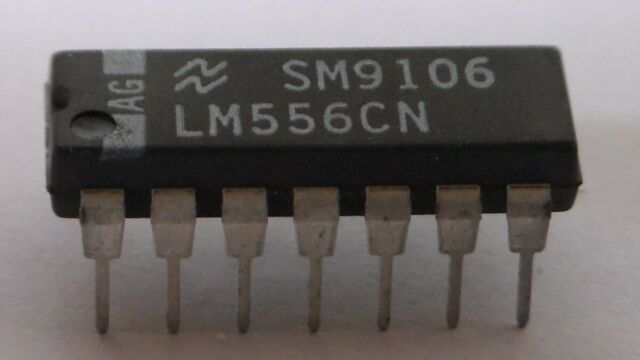 Two LM556 Dual Timer ICs, National Semiconductor