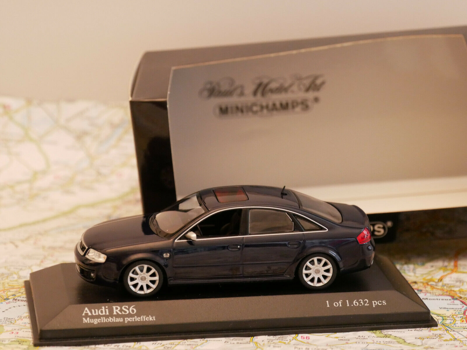 MINICHAMPS AUDI RS 6 2002 azul ART.430011702 NEW DIE-CAST 1 43