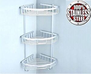 Details About 3 Tier Stainless Steel Shower Caddy Rust Free Bathroom Shelf Corner Organizer