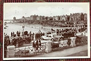 ST. ANNES ON SEA -  Boating Pool & Promenade 1947 Vintage Postcard Cars People