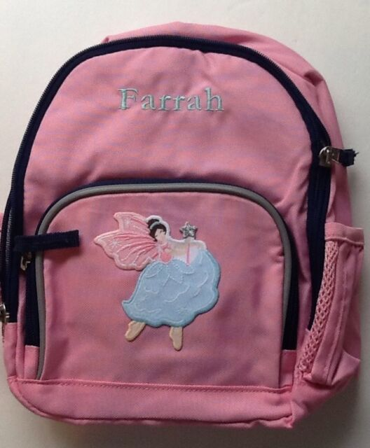 Pink w// Lt Blue Trim NWT Pottery Barn Kids Large Fairfax Backpack