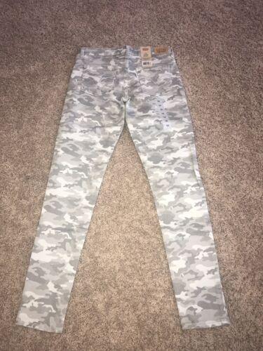 New Girls Levi's 710 Size 14 Gray Camo Super Skinny Jeans SO cute!