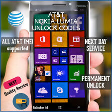 AT&T FAST MICROSOFT/NOKIA LUMIA  FACTORY UNLOCK CODE SERVICE 640 520 ALL Models