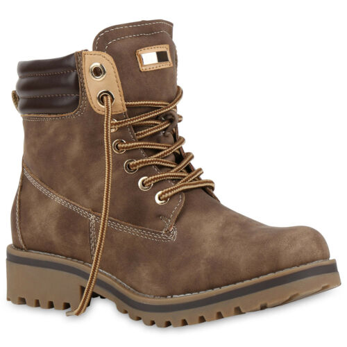 Warm Gefütterte Damen Outdoor Stiefeletten Worker Boots 813283 Trendy