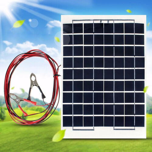 10//20//30A 12V//24V LCD Battery Charger Charge Regulator 10W Solar Panel USB *