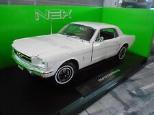 FORD Mustang 1/2 1964 Pony Coupe weiss white Muscle V8  Welly 1:18