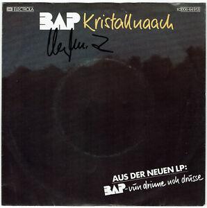 BAP-Kristallnaach-7-034-Single-1982-Coverhuelle-SIGNIERT-Wolfgang-NIEDECKEN