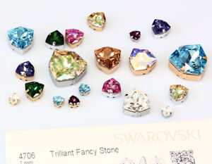 09d6e06a6282 Image is loading Genuine-SWAROVSKI-4706-Trilliant-Fancy-Crystals-with-Sew-