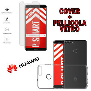 PELLICOLA-VETRO-TEMPERATO-per-HUAWEI-P-SMART-CUSTODIA-COVER-TPU-GEL-P-SMART