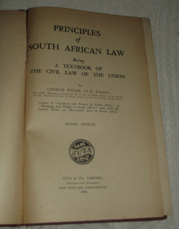 SOUTH AFRICAN LAW 1945