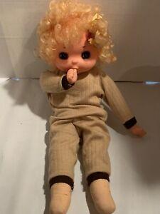 Vintage-Big-Eyes-Baby-Soft-Body-Rubber-Thumb-Sucking-Hong-Kong-Doll-18-Tall