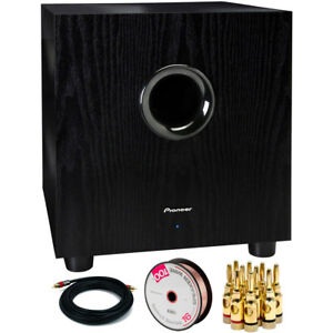 Pioneer-100-Watt-Powered-Subwoofer-with-Banana-Plugs-amp-Cables-Bundle