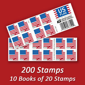 200 USPS FOREVER STAMPS, 10 Books of First Class Mail Postage!