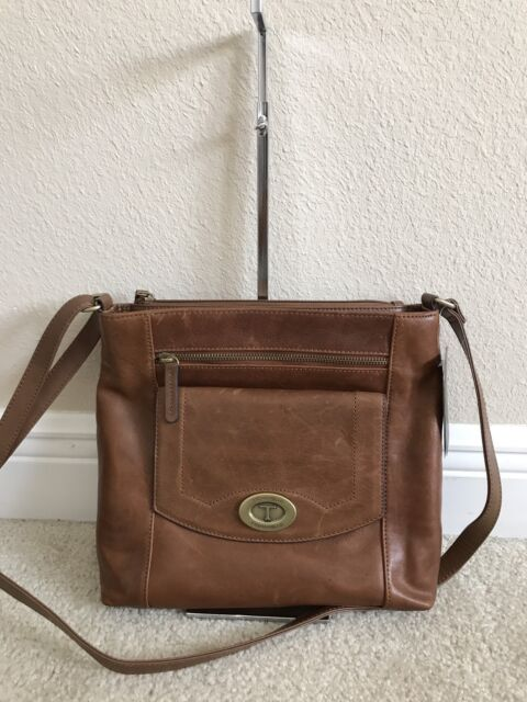 Tignanello Function Forever Vintage Leather Crossbody Walnut Cognac X9043sp