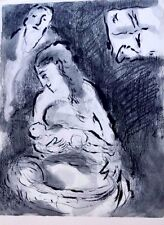 Marc Chagall offset lithograph Bible  paris maeght 1960 original  2 sided 105