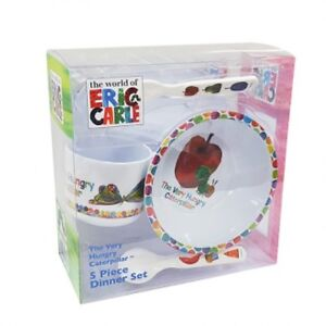 Image is loading The-Very-Hungry-Caterpillar-Melamine-Dinner-Set-5pc-  sc 1 st  eBay : hungry caterpillar plate set - pezcame.com