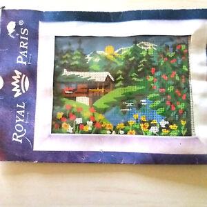 kit canevas chalet avec des fleurs - ROYAL PARIS - made in France oqH11zuC-08065644-319356407