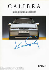Prospekt Opel Calibra Keke Rosberg Edition 1994 Autoprospekt Sondermodell 9 94