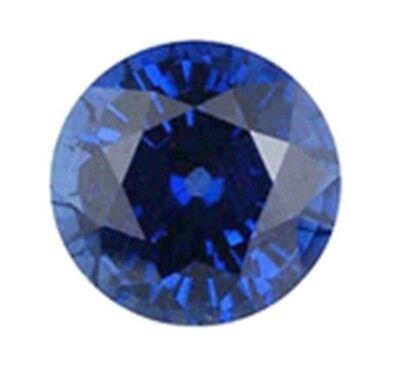 Corte Redondo Zafiro Azul Oscuro Natural 4 mm Piedra Preciosa Gema