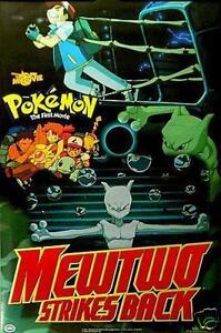 Pokemon Mewtwo Strikes Back Movie Poster 17 X 20 423 Mew Two Ebay
