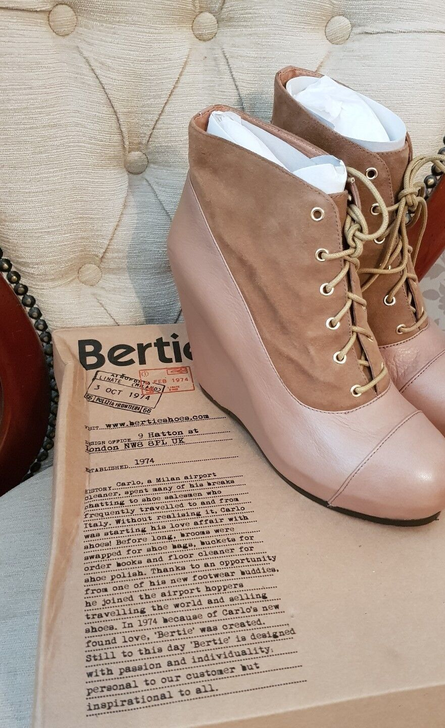Bertie womens ankle boot shoes 5 BNWB