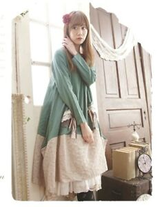Robe ample lin retro vintage Mori japon superposition Shabby chic ...
