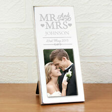 Personalised Bride Groom Mr and Mrs 2x3 Photo Frame - Wedding, Anniversary Gift