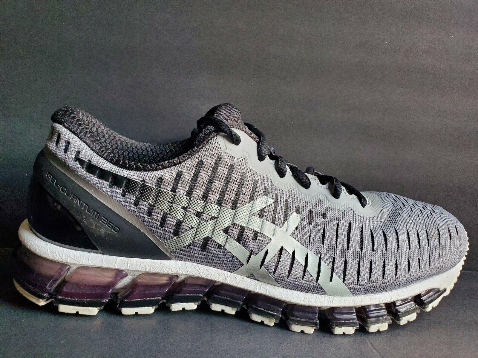 Asics Gel Quantum 360 2 Mens Size 8.5 Running shoes Black White Grey T5J1Q