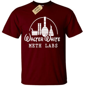 1d5cb39c4 WALTER WHITE METH LABS MENS T SHIRT BREAKING BAD INSPIRED HEISENBERG ...