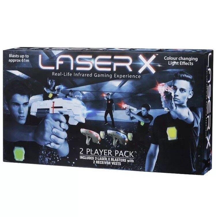 Laser X Laser Gaming Set - 2 Blasters & 2 Receiver Vests. BNIB