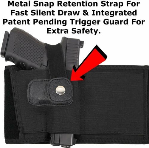 ComfortTac XL Ultimate Belly Band Holster Concealed Carry Black Right-hand Gun