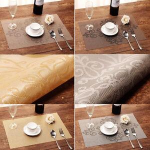 Placemats Set of 4| Vinyl PVC Placemat Table Mats | Non ...