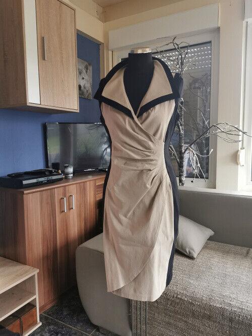 Damen Kleid Joseph Ribkoff Gr. 40 - Schwarz Beige Super Zustand Modern Und Elegant In Mode
