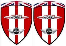 2 adhésifs stickers MINI COOPER JOHN COOPER WORKS JCW CHILI RED  ( ailes avant)