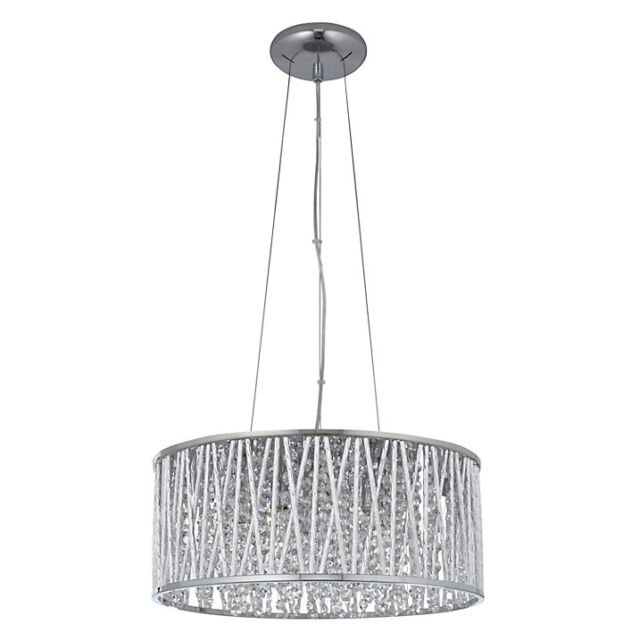 John lewis light emilia drum crystal pendant light rrp £250