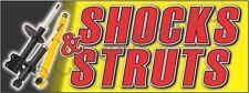 3x8 Shocks Amp Struts Banner Large Outdoor Sign Car Auto Shop Repair Service Cv