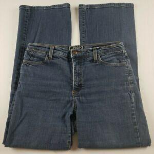 NYDJ-Womens-Jeans-Sz-8-Flare-Leg-High-Waist-Dark-Wash-Denim