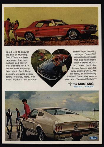 1967 FORD MUSTANG Fastback Scuba Diving VINTAGE AD Hardtop Car Convertible