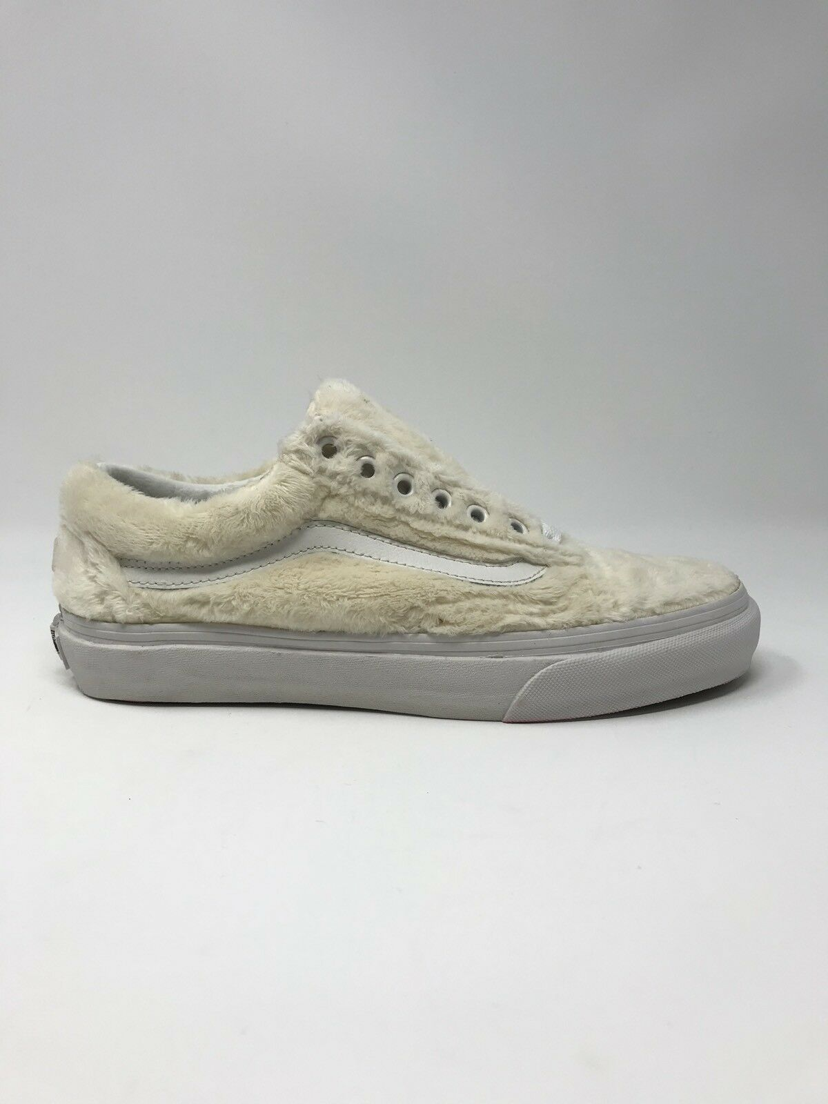 vans patiner old skool sherpa tourterelle blanches est de 9,5 patiner vans chaussures nouvelle fausse fourrure e9c46c